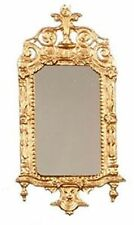 Dollhouse Miniature Ornate Gold Victorian Mirror