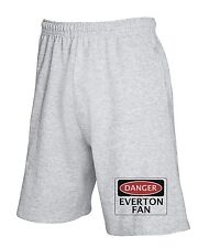 Pantalone Tuta Corto WC0291 DANGER EVERTON FAN, FOOTBALL FUNNY FAKE SAFETY SIGN