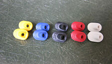 NOS CINELLI TOP TUBE INTERNAL BRAKE CABLE PLUGS - yellow, red, blue, black white