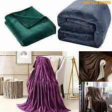 Luxury Soft Flannel Fleece Blanket Throw Sofa Bed Large Warm 150X200cm Gift Pack