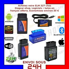 Interface diagnostic multimarque ELM327 USB BLUETOOTH WIFI ELM 327 OBDII HQ