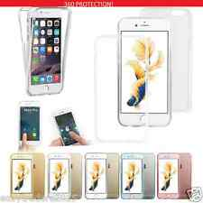 Shockproof 360° Silicone Protective Clear Case Cover For Apple iPhone 5 6 7 plus