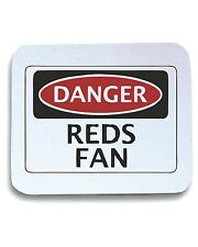 Tappetino Mouse Pad WC0307 DANGER REDS FAN, FOOTBALL FUNNY FAKE SAFETY SIGN