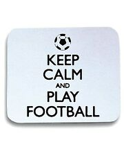 Tappetino Mouse Pad WC1046 Keep Calm and Play Football Maglietta