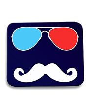 Tappetino Mouse Pad OLDENG00301 3d glasses stache dark tshirt (1)