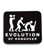 Tappetino Mouse Pad BEER0217 Evolution-Of-Hangover-Magliette