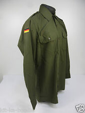 NEW Mens German Army Issue Surplus Military Vintage Olive Field Shirt MED RA7
