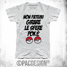 CAMISETA DE HOMBRE PALABRAS POKEMON GO DIVERTIDO BOLAS ESFERAS WHY SO VINTAGE