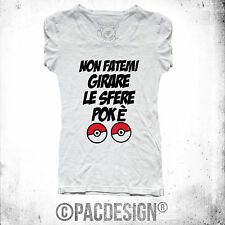 CAMISETA DE MUJER PALABRAS POKEMON GO DIVERTIDO BOLAS ESFERAS WHY SO VINTAGE