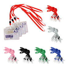 10 Pcs ID Neck Strap Lanyard for ID Card Badge Holder Case With Plastic Clasp