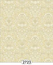 Dollhouse Wallpaper 1:12 Annabelle Mini Damask Yellow Gold
