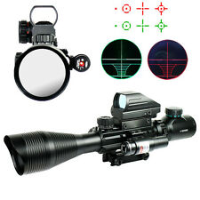 Brand New 4-12X50EG Rifle Scope with Holographic 4 Reticle Sight & Red Laser JG8