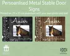 Horse Pony Stable Personalised Metal Door Sign Name Plate Plaque