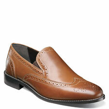 Nunn Bush Nelson #84690-221 Men's Slipon Oxford Brogue Shoes. Tan | 10 & 11 uk