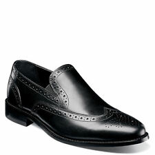 Nunn Bush Nelson #84690-001 Men's Slipon Oxford Brogue Shoes. Black | 8,9 uk