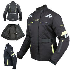 Mujer Chaqueta Transpirable Moto Scooter Termica Impermeable Fluo