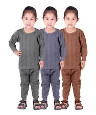 3 pcs pack Kids Unisex Body Warmer Thermal Wear (Upper/Lower) Color Assorted