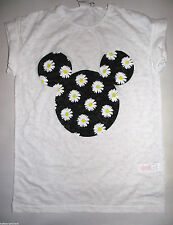 PRIMARK LADIES DISNEY MICKEY MOUSE FLORAL BURNOUT T SHIRT TEE TOP UK 6 or 8