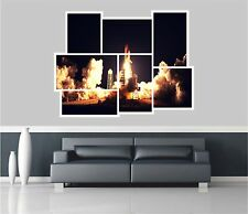 Huge Collage View Space Shuttle Launch Wall Stickers Wallpaper 851