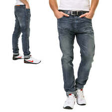 Jack & Jones Jeans da uomo Casual Denim Pantaloni Regular Cotone Blu NUOVO