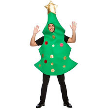 CHRISTMAS TREE COSTUME XMAS NOVELTY FANCY DRESS COSTUME ADULT OUTFIT ONE SIZE