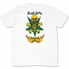 DOGTOWN X SUICIDAL TENDENCIES POSSESSED TO SKATE WHITE T SHIRT TEE S M L XL NEW
