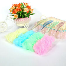 Bath Shower Body Back Brush Nylon Soft Mesh Sponge Plastic Handle Spa Exfoliate