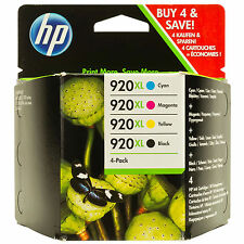 ORIGINAL HP ALTA CAPACIDAD 4 CARTUCHO VALOR MULTIPACK 920XL/C2N92AE SET COMPLETO