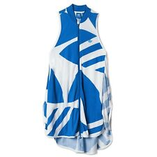 ADIDAS ORIGINALS CCOUTURE DRESS TREFOIL FASHION DRESS BLUE WHITE