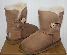 Ugg Toddler Bailey Button boots Chestnut suede NEW