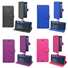 SONY XPERIA XZ  WALLET BOOK FLIP CASE IN VARIOUS COLOURS