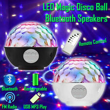 Bluetooth Wireless Rechargeable Portable LED Magic Ball Speaker MP3