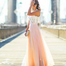 FemaleFormal Wedding Bridesmaid Long Evening Party Ball Prom Gown Cocktail Dress