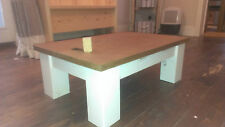 ## Handmade Bespoke Low Small Chunky Coffee Table.  Pine or Oak or combination##