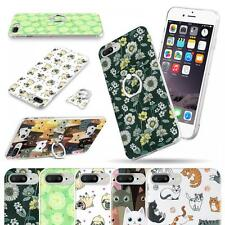 Funky Ring 360 Kickstand Hard Silicone Back Protective Gel Case Cover- iPhone 7