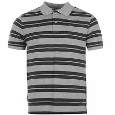 Slazenger Pique Yarn Dye Polo Shirt Mens Grey Marl/Charcoal Top T-Shirt Tee