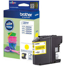 BROTHER GENUINO LC221Y CARTUCHO DE TINTA AMARILLO (LC-221Y)