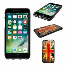 APPLE IPHONE 7 PLUS VINTAGE UNION JACK STAMPA CUSTODIA GEL