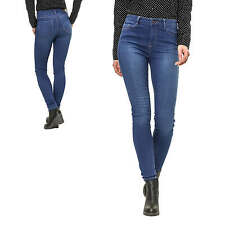 Vero Moda Jeans da donna Pantaloni Skinny Fit Denim Casual Used Look Blu NUOVO