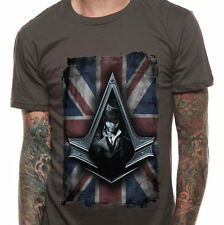 Assassin's Creed Syndicate - Jacob Flag Charcoal T Shirt Size:S - NEW & OFFICIAL
