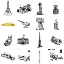 3D Laser Cut Metal Miniature Building World Wonders Model Kits Self Build Puzzle