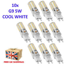 10x G9 5W LED 64 SMD Spotlight Silicone Capsule Cool Warm White Light Bulb Lamp