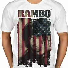Rambo - Flag T Shirt Size:S,2XL - NEW & OFFICIAL