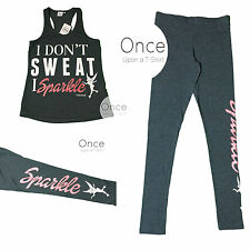 PRIMARK Ladies DISNEY TINKERBELL Active Wear Workout Vest Top Leggings