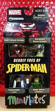DEADLY FOES OF SPIDER-MAN MINIMATES BOX SET CARNAGE DOC OCK SANDMAN LIZARD MIB