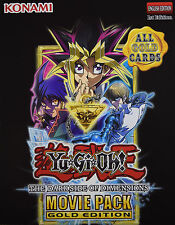 YuGiOh DARK SIDE OF DIMENSIONS MOVIE GOLD EDITION *MVP1* CHOOSE GOLD RARE CARDS