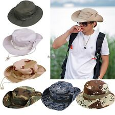 Unisex Bucket Hat Boonie Flat Hunting Fishing Outdoor Beach Cap Women Men C5