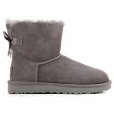 Ugg Australia Mini Bailey Bow II Grey Womens Boots