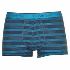 Calvin Klein Underwear Men's CK One Trunk, Boxer Brief, Reflection Stripe - Blue