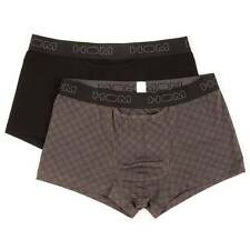 HOM Men's HO1 Boxerlines Boxer Brief, Short Trunk 2-Pack, Black / Grey Print H01